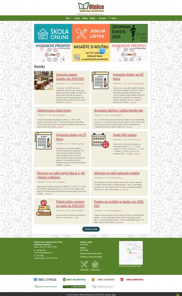 ZŠ a MŠ Otnice – Web základní a mateřské školy v Otnicích