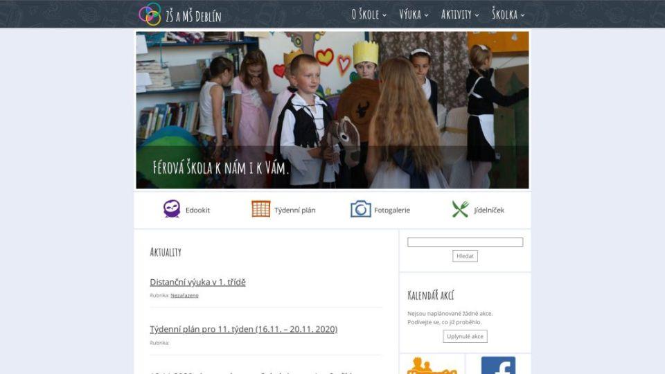 Prístupné webové stránky: Základná škola a Materská škola Deblín