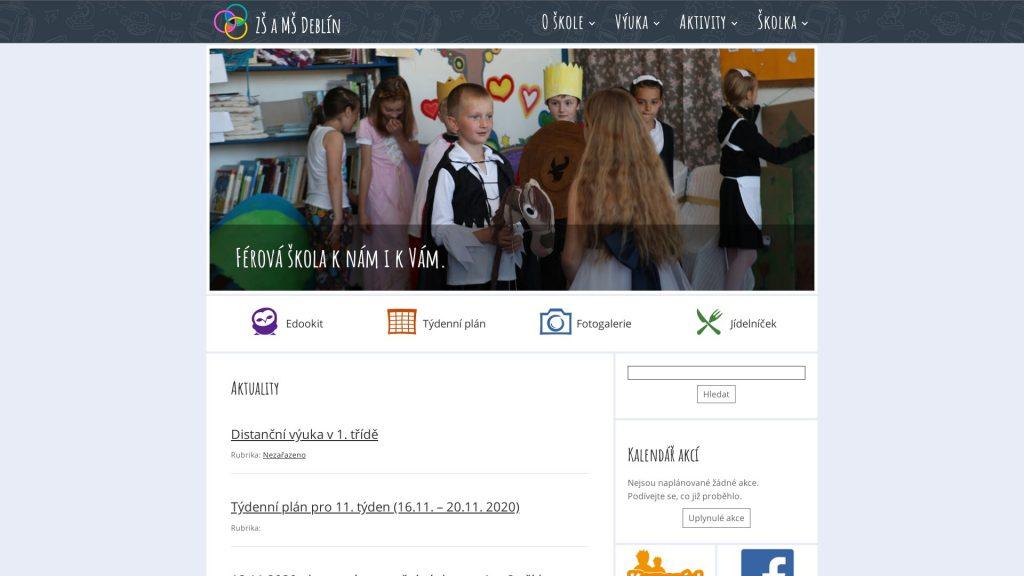 Přístupné webové stránky: Základní škola a Mateřská škola Deblín