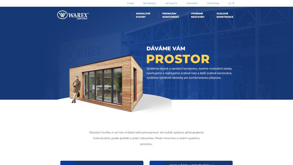 Webová stránka Warex